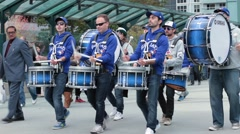 Toronto blue jays marching band rogers centre Stock Footage
