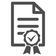 Certified Icon Stock Illustration