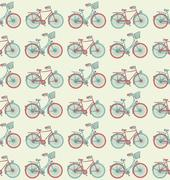 Bike Seampless Pattern Stock Illustration