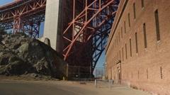 Under Golden Gate Bridge Superstructure   Stock Footage