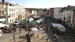Time Lapse Footage of a Busy High Street - stock footage