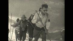 Vintage 16mm film, 1927, Canada, climbing Mt Resplendent #2 - stock footage