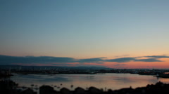 Dawn over the Bay. Sunrise Tilt Shift Timelapse. Stock Footage