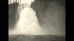 Vintage 16mm film, 1927, Canada, Emperor falls Mt Robson - stock footage