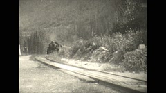 Vintage 16mm film, 1927, Canada, steam train sequence Stock Footage