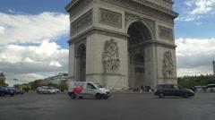 Paris Arch of Triumph Stock Footage
