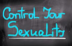 Control Your Sexuality Concept Stock Illustration