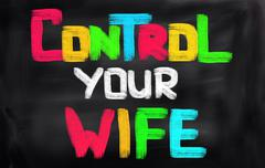 Control Your Wife Concept Stock Illustration