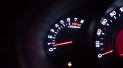 Car dashboards red Stock Footage