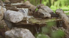 Garden with waterfall 2 Stock Footage