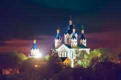 old Cathedral in Kamyanets Podilsky - stock photo