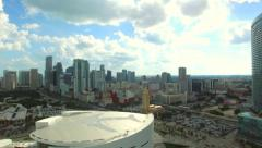 Miami Downtown and American Airlines Arena Stock Footage