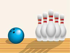 BOWLING ALLEY BACKGROUND - stock illustration