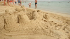 Sand castle Stock Footage