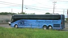 Niagara Scenic tour bus motor coach Stock Footage