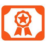 Award Diploma Icon - stock illustration