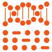 Stock Illustration of Genetic Code Icon