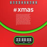 Background Merry Christmas Coming Soon and countdown timer - stock illustration