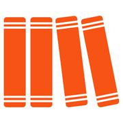 Stock Illustration of Library Books Icon