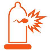 Sperm Escape Icon - stock illustration