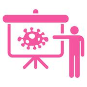 Stock Illustration of Bacteria Lecture Icon