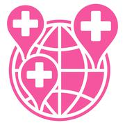 Stock Illustration of Global Clinic Company Icon