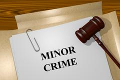 Minor Crime concept - stock illustration