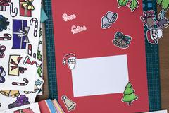 Xmas scrapbook layout Stock Photos