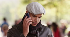 An angry young African American entrepreneur on the phone over losing a contract Stock Footage
