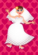 The Blushing Bride Stock Illustration