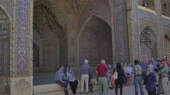 Nasir al-Mulk Mosque in Shiraz Arcade Stock Footage