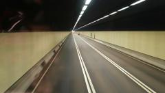 Ride through tunnel road, Western Harbour Crossing. Stock Footage