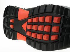 Sole of A Black Nike Hiking Shoe - stock photo