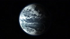 Earth close-up spinning fast in space with starry background 4K seamless loop Stock Footage