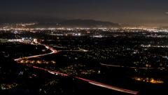 San Fernando Valley Day to Night Time Lapse with Zoom near Los Angeles Stock Footage