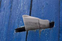Fresh issue of newspaper - stock photo
