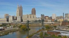 Skyline of Cleveland, Ohio, USA. Stock Footage