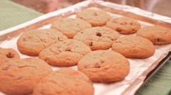 A tray of freshly baked cookies Stock Footage