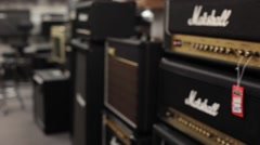 Stock Video Footage of Pan marshall guitar amplifier s2