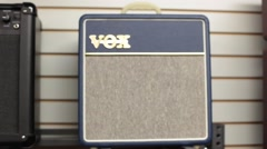 Stock Video Footage of Rack focus vox guitar amplifier