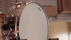 Snare drum on display Stock Footage