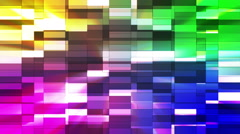 Twinkling Horizontal Small Squared Hi-Tech Bars, Multi Color, Abstract, Loop, HD Stock Footage