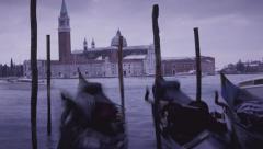 Dusk falling over Venice Stock Footage