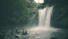 Natural  cascade in Panama - stock footage