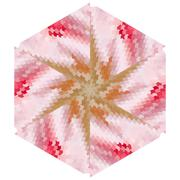 Glamorous pink geometric abstract ethnic ornament Stock Illustration