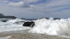 Lumahai Beach, Kauai, Hawaii Stock Footage