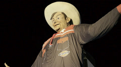 The New Big Tex at the State Fair of Texas Stock Footage