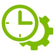 Time Setup Icon Stock Illustration