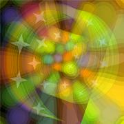 Spiral abstraction with colored lights, computer generated abstract backgroun - stock illustration