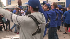 Stock Video Footage of Toronto Blue Jays major league baseball fans during the playoffs